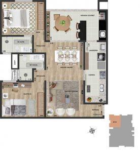 Apt final 03 | 2 qts | 85 m²